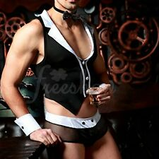 Mens Sexy Lingerie Maid Role Play Costume Outfits Set Clubwear Brief Underwear