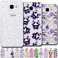 Cute Silicone Skin Pattern TPU Soft Clear Case Cover For Samsung Galaxy A3(2016)