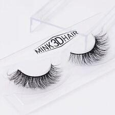 100 Real Mink Natural Thick False Eye Lashes Makeup Extension Fake Eyelashes A19