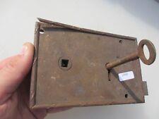 Victorian Bronze Door Lock Architectural Antique Bolt Old Brass Reeded Key