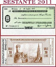 BANCA DI TRENTO E BOLZANO LIRE 200 20.7. 1977 UNIONE COMMERCIO TURISMO FDS B149