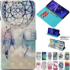 Patrón de 3D Tarjeta Billetera Magnética de Cuero Soporte Funda Cubierta Para Huawei XiaoMi LG