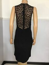 Stella McCartney Black Cocktail Dress Size 42 Uk 10 Women's Vgc Mesh Back