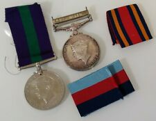 S E Asia Brittish General Service Medal Raf Tested Silver & One Other