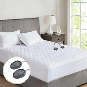 Beautyrest 100% Cotton Queen Heated Mattress Pad
