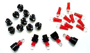 """15 Red Mopar Domes Lights Bulbs LEDs 3/8"""" Sockets Instrument Panel Cluster Dash"""