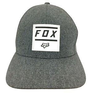 Fox Racing Patch Cap MX MTB Motocross ATV Bike Logo Baseball Hat FlexFit L/XL