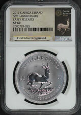 2017 South Africa Silver 1 Krugerrand 50th Ann. NGC SP-69 Early Release -183951