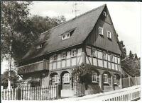Ansichtskarte Ebersbach - Steinstraße 1 - Oberlausitzer Umgebindehaus - s/w