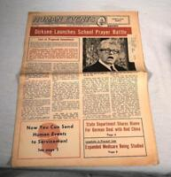APRIL 1966 NEWSPAPER HUMAN EVENTS WASHINGTON DC EVERETT DIRKSEN COVER PHOTO