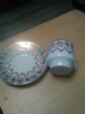 Epiag Cup And Saucer Czechoslovakia Gold/ Red