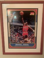 Michael Jordan Signed 1986 Rookie 13X17 Rookie - UDA Authenticated