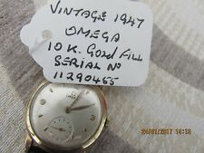 Vintage*******1947 0MEGA  10K GOLD FILLED*******wrist watch