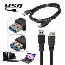 USB 3.0 de alta velocidad 5 Gbps A macho a hembra de un Data Sync Cargador Cable de extensión