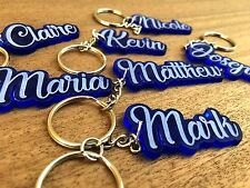 Personalised Personalized Keychain Keyring Name Bag Tag