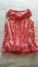 Womens Capture coral polka dot seeveless top - size 8