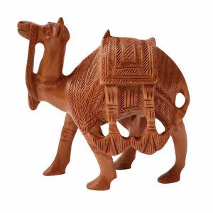 Camel Hand Carved Sandal Wood Sculpture Statue Premium Home Décor Gift #US40