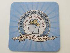 Beer Coaster ~ DISCRETION Brewing Co ~ Santa Cruz, CALIFORNIA ~ Wisdom, Kindness