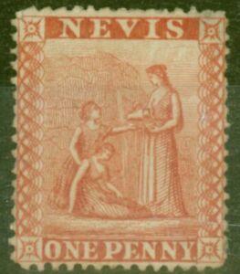 Nevis 1867 1d Deep Red SG10 Fine Unused Stamp