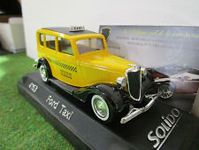 FORD TAXI jaune echelle 1/43 fabrica SOLIDO 4463 voiture miniature de collection