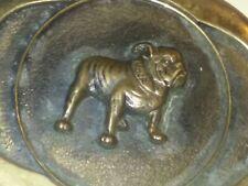 AP-035 Mack Trucks Advertising Belt Buckle Vintage Solid Bronze Bull Dog Smykal