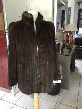 Veste fourrure ou manteau DASCO en veritable vison taille 40/42 marron 850€