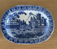 Super Pearlware Miniature Platter c1830 Kite Flying Possibly A Newcastle Maker