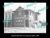 OLD LARGE HISTORIC PHOTO OF DULWICH HILL NSW VIEW OF THE POST OFFICE c1900