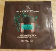 NEW THE BODY SHOP Himalayan Charcoal Purifying Glow Mask 5ml