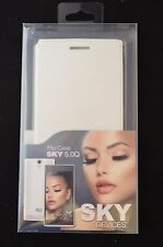 Flip Case Cover Sky Devices 5.0Q Leatherette White