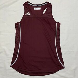 Women's Adidas Size Small Workout Climacool Burgundy Tank Top