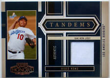 2004 Playoff Honors Tandems HIDEO NOMO CHIPPER JONES Dual Jersey SP #/250