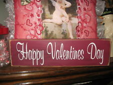 Primitive Valentine Sign Happy Valentine's Day Shabby Adorable