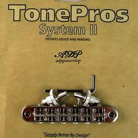 TonePros T3BP-N Chevalet Standard TuneOmatic Bridge Small Posts Notched Saddles