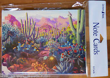 8 Leanin Tree Note Cards Desert Scene, Cactus, Southwest, Animals Made in USA