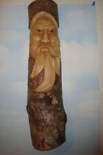 Handmade Wooden ~Man of the Wood~Log Carving, Mask, Plaque, Garden,~J~ uk seller