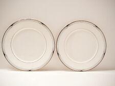 "Vintage Lenox Erica Dinner Plates Black on White with Gold Rim  10.75"""