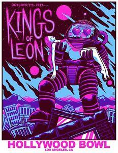 KINGS OF LEON HOLLYWOOD BOWL 2017 TOUR PROMO POSTER