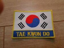 "TAE kwon Panno DISTINTIVO/PATCH, SEW sul,. 100 mm x 70 mm (4"" x 3"")"