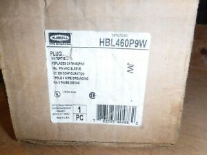 Hubbell AC HBL460P9W, 60 Amp 3 Phase 250 Volt 4 Pin & Sleeve Plug