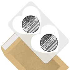 2 x Heart Stickers 7.5 cm - BW - Laguna California Beach USA America  #41772
