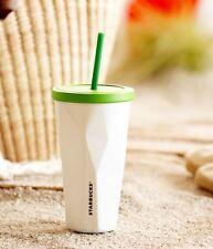Starbucks Stainless Steel Chiseled Tumbler - White, 16 fl oz