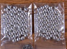 100 Sterling Silver 7mm Bench Made Beads Style Raised Seam Lot of 100 USA