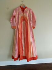 Designer readymade Silk Maxi Anarkali Kurta kurti bandhgala free shipping