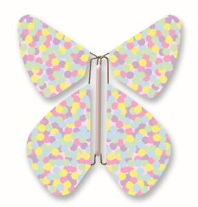 Wind Up Butterfly for Greeting Cards - The Magic Flyer, Confetti Pattern