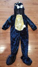 TODDLER GIRLS NWT BLACK FURRY CAT GOLD TUMMY HALLOWEEN COSTUME 4T-5T