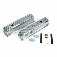 Vintage Center Bolt Tall Finned Valve Covers With Breather Holessmall Block Chevy