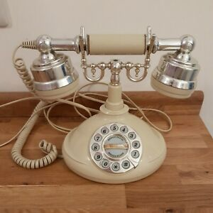 Astral Islington Vintage Style Push Button Telephone Cream And Silver Prop