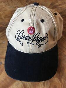 VINTAGE CAP CROWN LAGER BEER BASEBALL CAP SUEDE WOOL BLEND DAD HAT