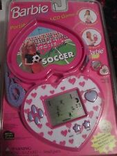 RARE Barbie For Girls Portable Arcade LCD Game SOCCER Hand Held SEALED 1995